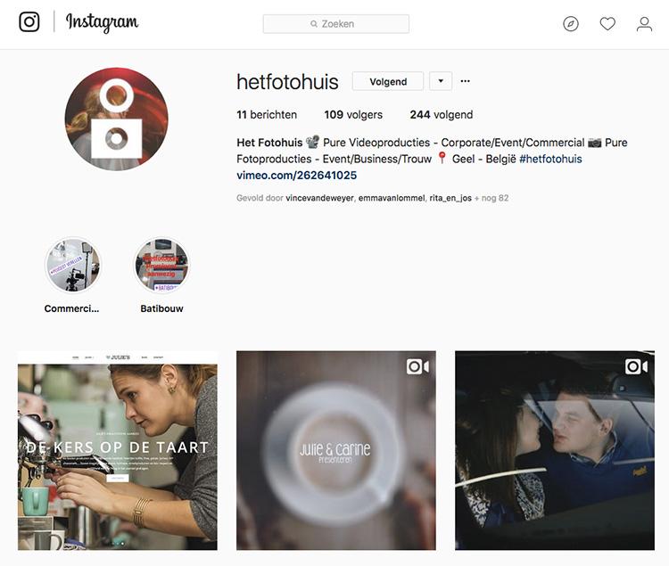 """Voortaan is Het Fotohuis ook terug te vinden op het populairste Social Media kanaal voor Foto en Video : """"Instagram"""". ..."""