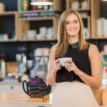 Corporate fotoshoot en bouw website voor espressobar Julie's te Geel