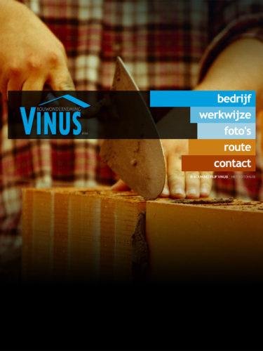 Website Bouwonderneming Vinus
