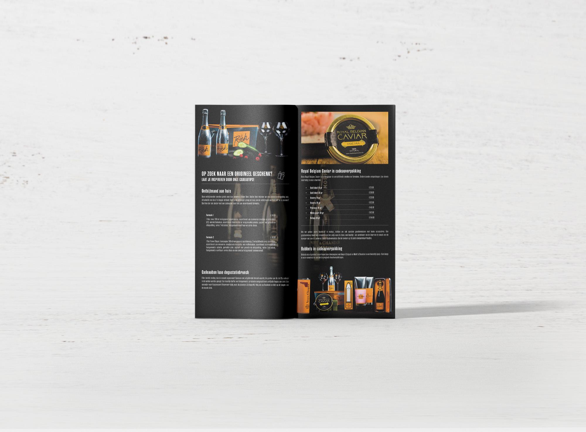 Feestfolder Sysmans Food Stores - Cadeaus en Royal Belgian Caviar